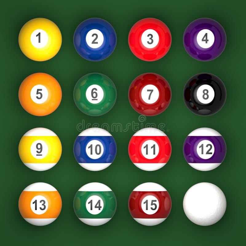 Raccolta delle palle di stagno illustrazione di stock