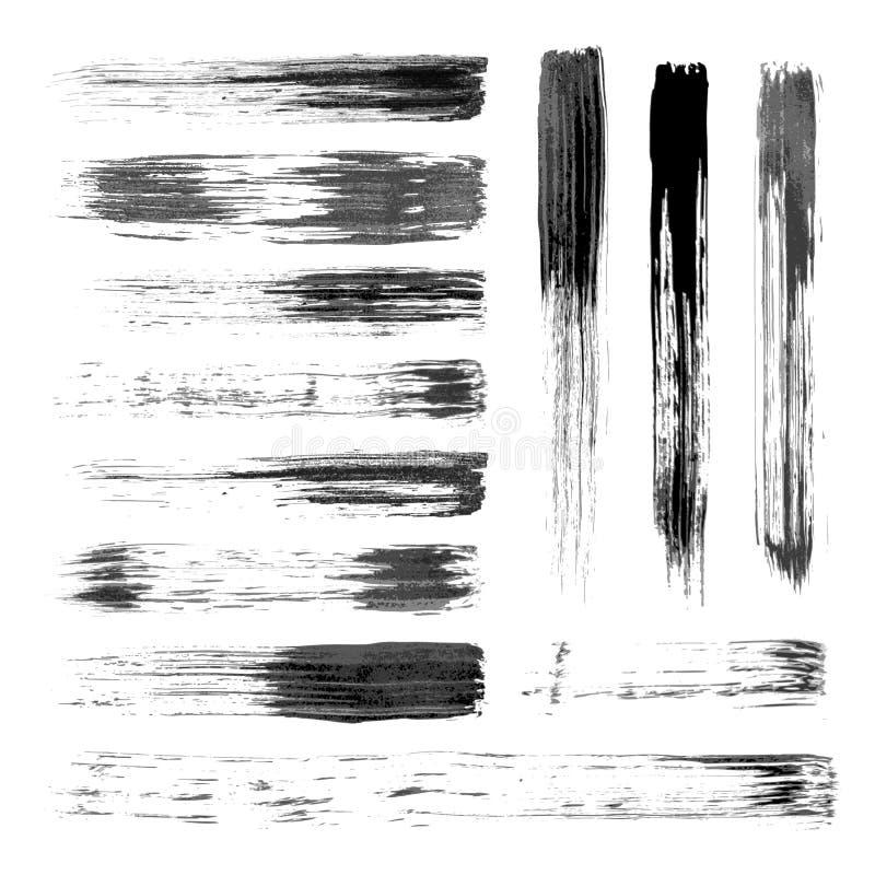Raccolta delle spazzole di arte di vettore illustrazione di stock