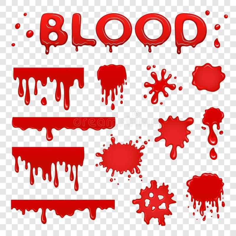 Raccolta dello splat del sangue illustrazione vettoriale