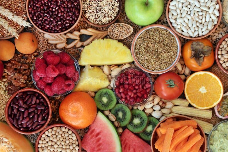 Raccolta di alimenti per la salute ad alta fibra immagini stock