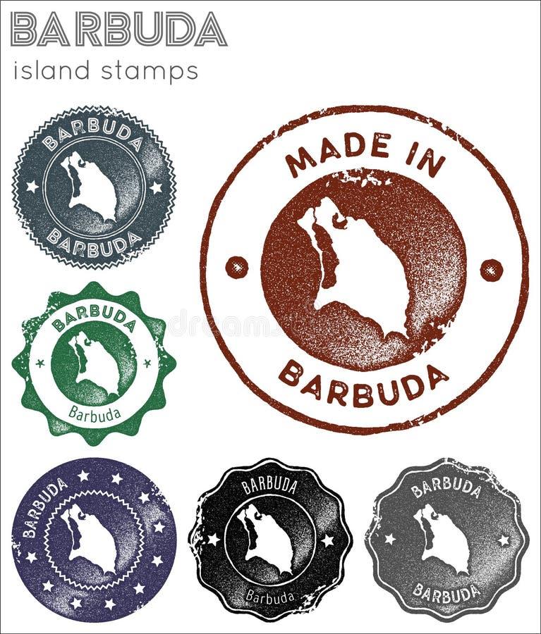 Raccolta di bolli di Barbuda fotografia stock