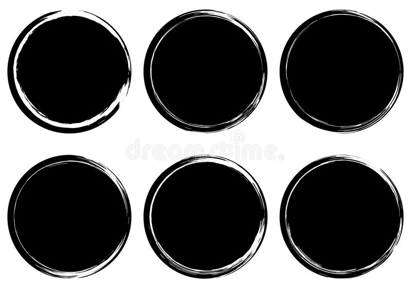 Raccolta di bolli circolare di lerciume bandiere insignia Etichette e royalty illustrazione gratis