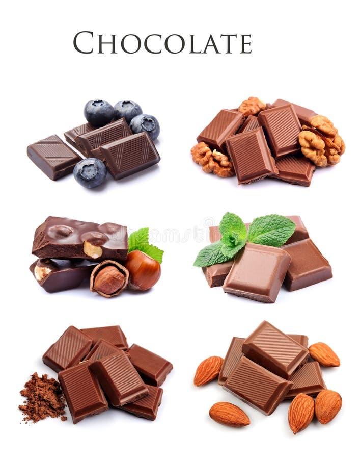 Raccolta di cioccolato immagini stock