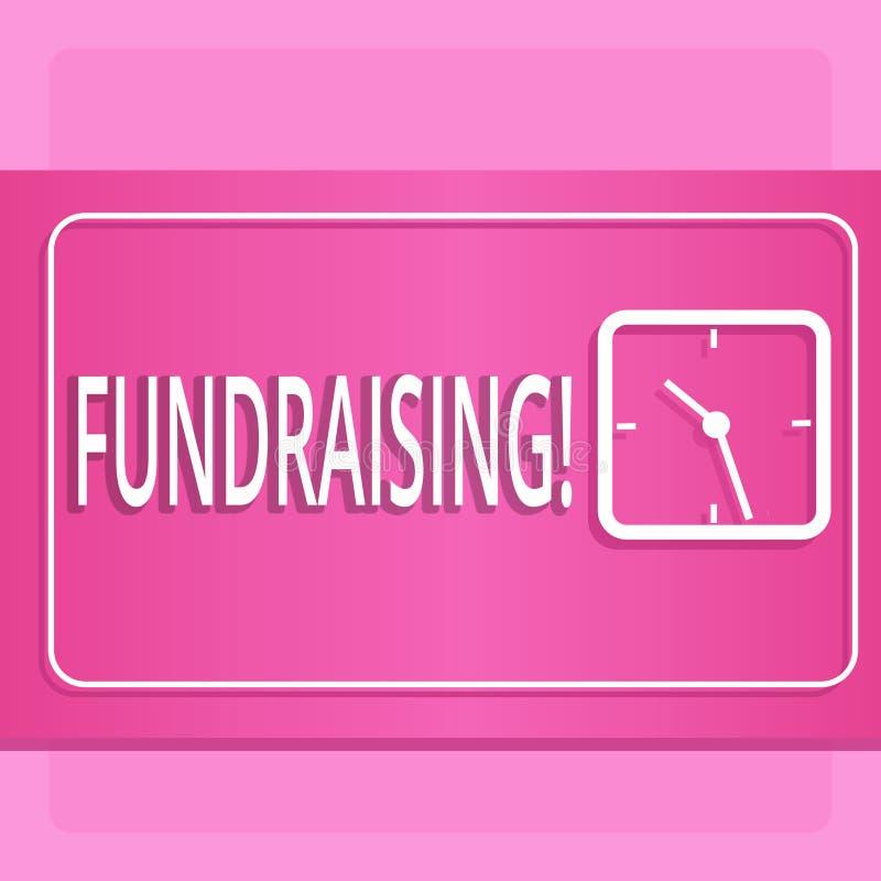 Raccolta di fondi del testo della scrittura Ricerca di significato di concetto del contributo finanziario per causa di carità o p illustrazione di stock