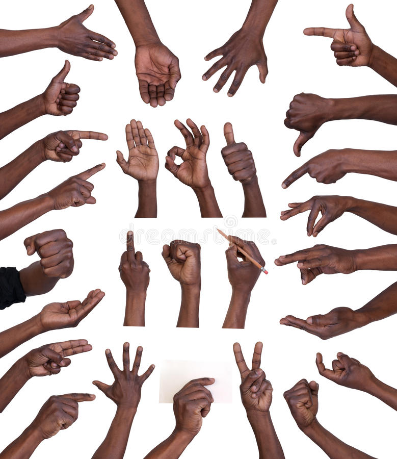 Raccolta di gesti di mano fotografia stock libera da diritti