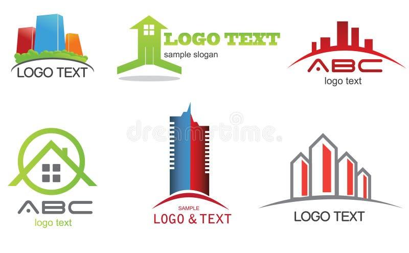 Raccolta di logo illustrazione vettoriale