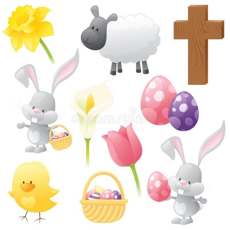 Raccolta di Pasqua royalty illustrazione gratis