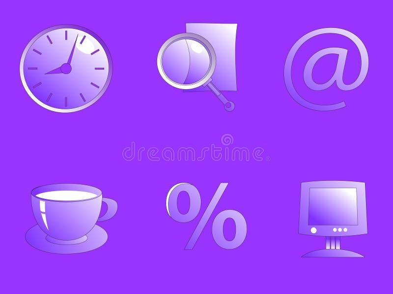 Raccolta di varie icone dell'ufficio illustrazione vettoriale