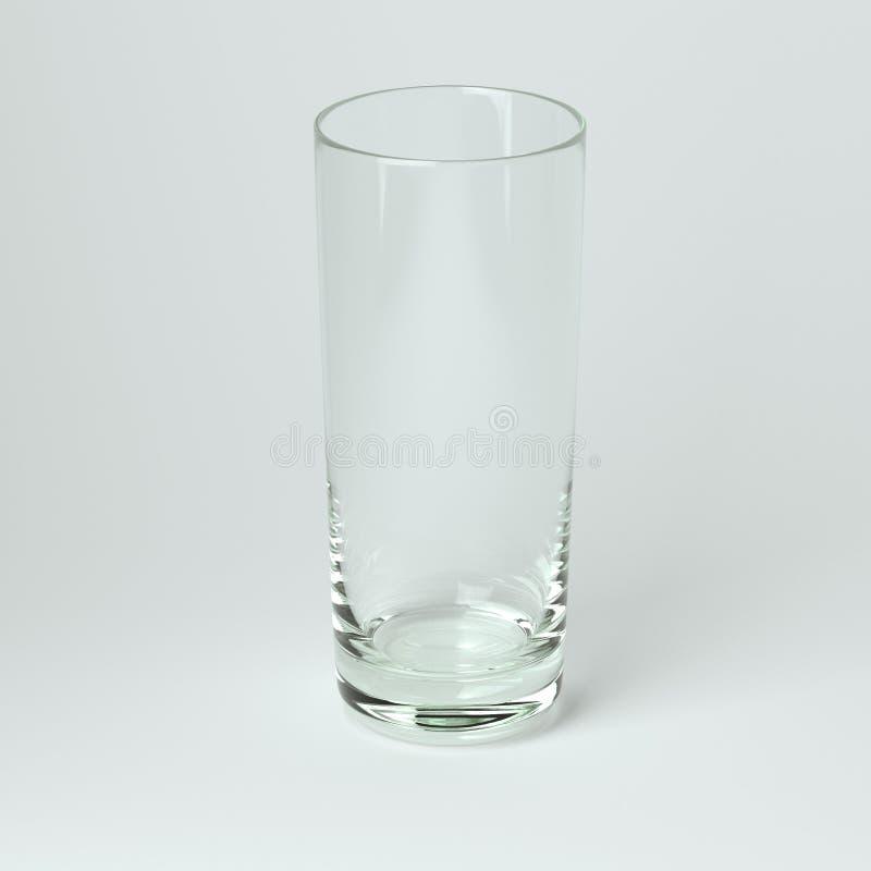 Raccolta di vetro di cocktail - Collins. Su fondo bianco royalty illustrazione gratis