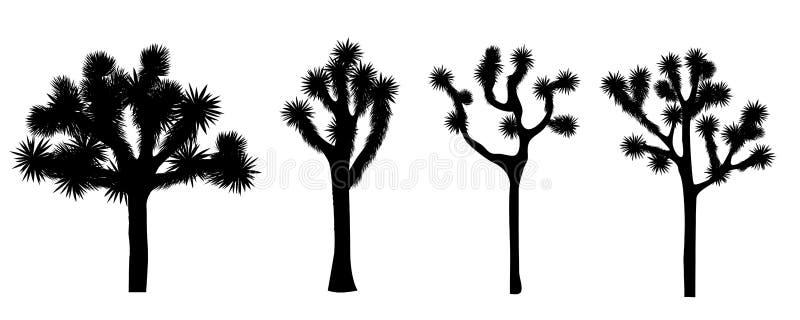 Raccolta di vettore dell'albero di Joshua illustrazione di stock