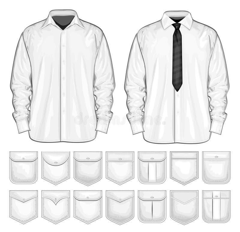 Raccolta di vettore della camicia e delle tasche royalty illustrazione gratis