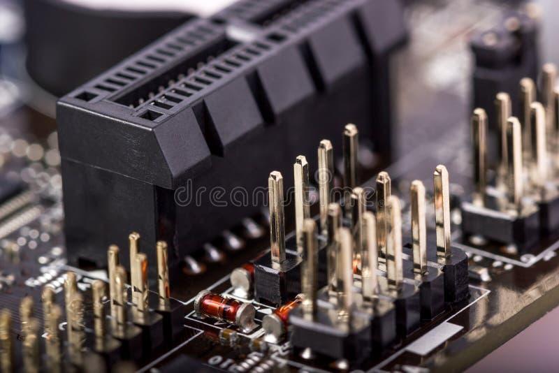 Raccolta elettronica - circuito del computer immagine stock libera da diritti