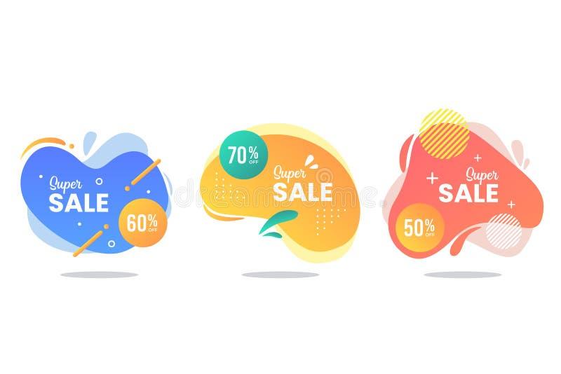 Raccolta liquida dell'insegna di vendite royalty illustrazione gratis