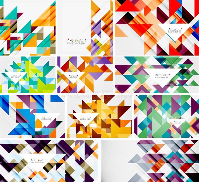 Raccolta mega dei modelli del triangolo - il fondo astratto progetta Per le insegne, ambiti di provenienza di affari, presentazio royalty illustrazione gratis