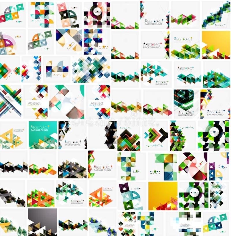 Raccolta mega enorme di carta geometrica astratta illustrazione vettoriale
