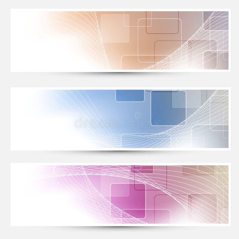 Raccolta moderna dei biglietti da visita della geometria illustrazione vettoriale