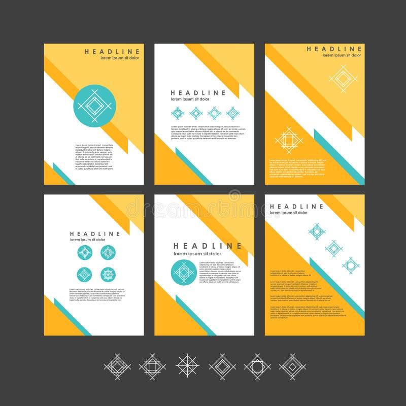 Raccolta per le insegne, presentazione, opuscolo dei modelli di progettazione di vettore illustrazione vettoriale