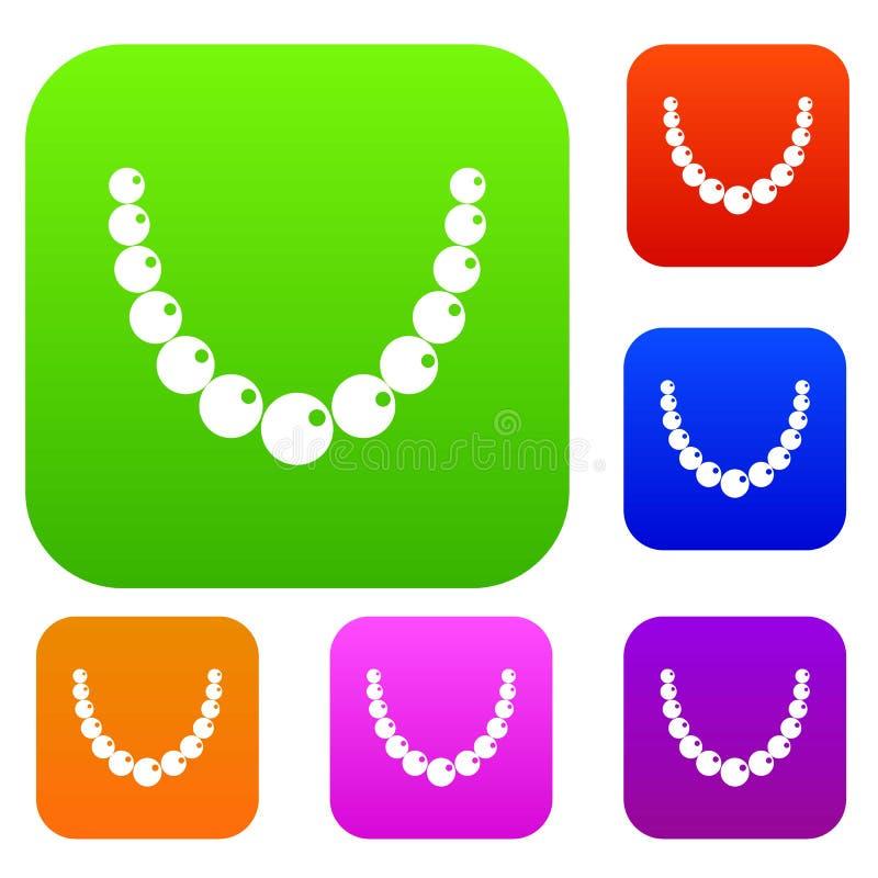 Raccolta stabilita di colore della perla illustrazione vettoriale
