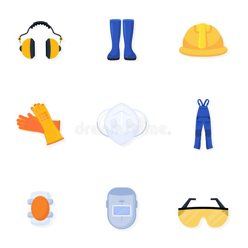 Raccolta uniforme delle illustrazioni di vettore del saldatore royalty illustrazione gratis
