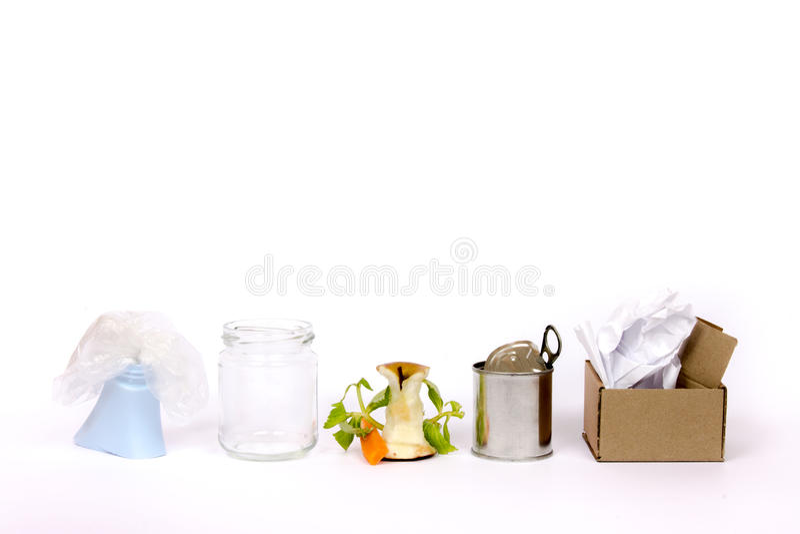 Raccolto differenziato su bianco fotografie stock