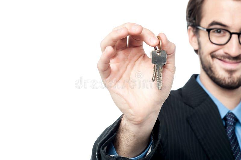 Racconto le vostre chiavi della casa immagini stock