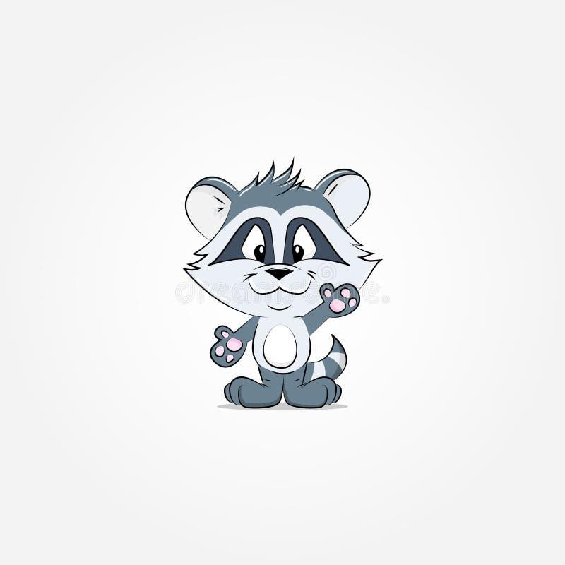 raccoon royalty ilustracja