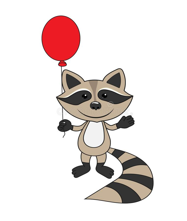 Raccoon_balloon vector illustratie