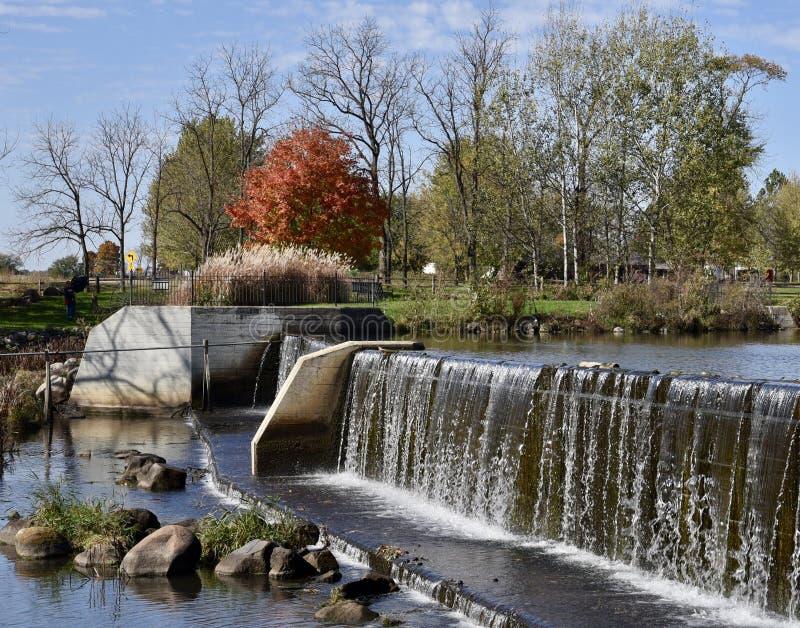 Raccoon Creek Dam royalty free stock image