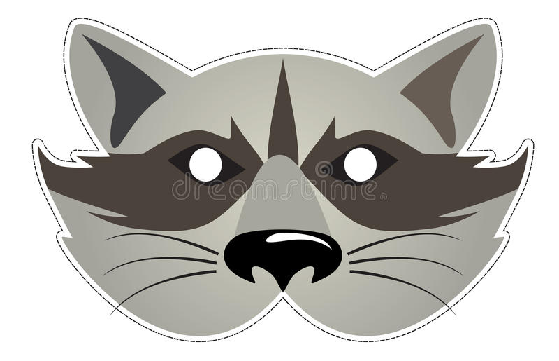 Raccoon della mascherina illustrazione vettoriale