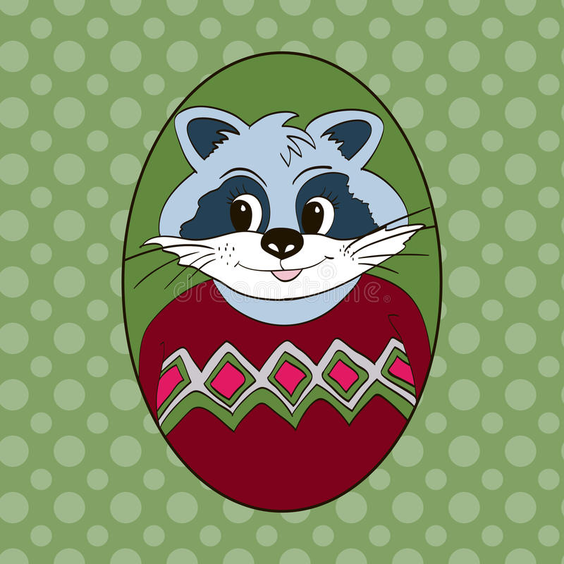 raccoon Obrazek dla odziewa ilustracji