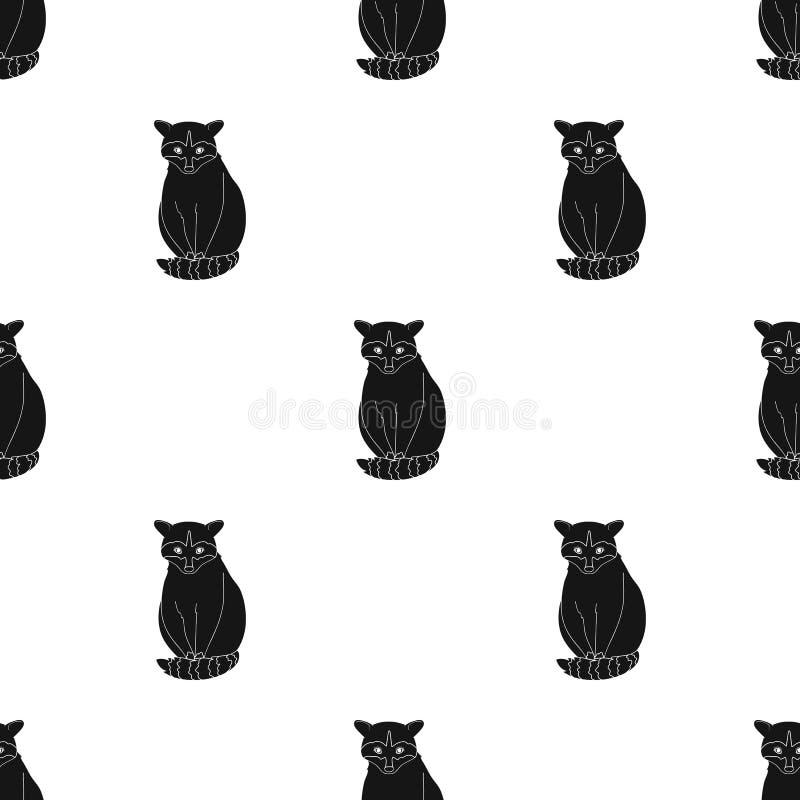 raccoon Zwierzęta przerzedżą ikonę w czerń stylu symbolu zapasu ilustraci wektorowej sieci royalty ilustracja