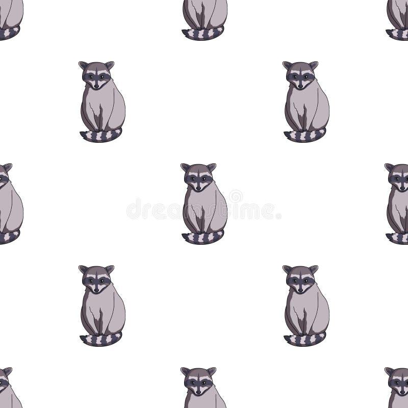 raccoon Zwierzęta przerzedżą ikonę w kreskówka stylu symbolu zapasu ilustraci wektorowej sieci royalty ilustracja