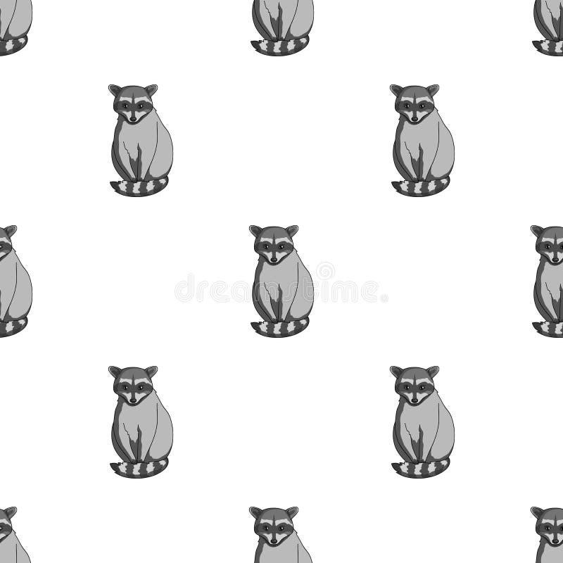 raccoon Zwierzęta przerzedżą ikonę w monochromu stylu symbolu zapasu ilustraci wektorowej sieci royalty ilustracja
