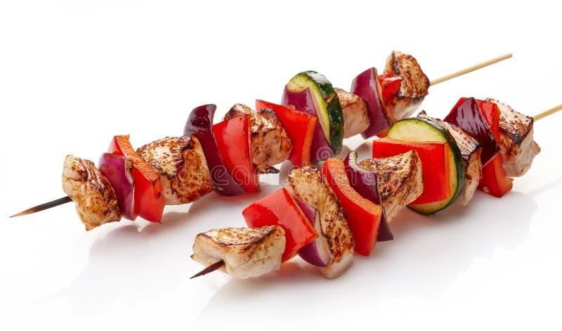 Raccordo arrostito e verdure della carne di maiale fotografia stock