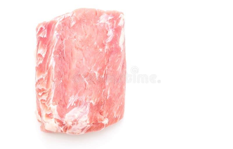 raccordo crudo della carne di maiale fresca fotografie stock