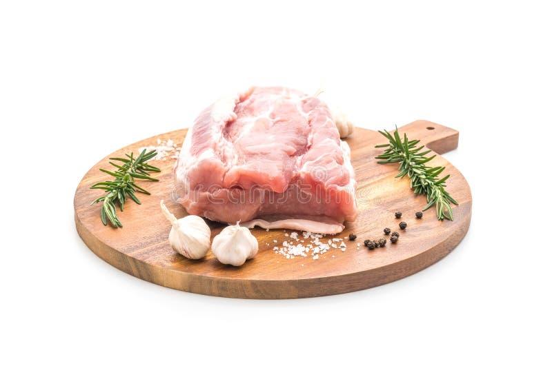 raccordo crudo della carne di maiale fresca immagine stock libera da diritti
