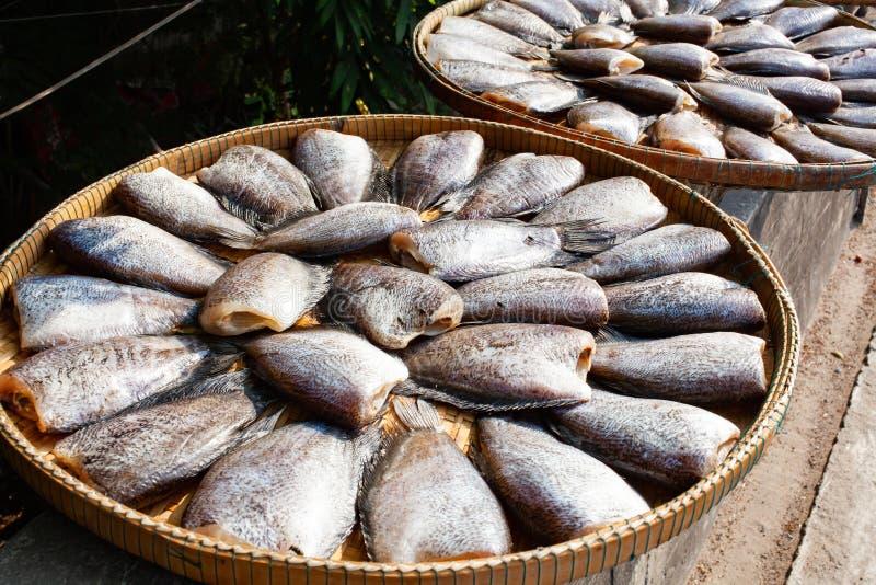raccordo del pesce fresco sul mercato fotografia stock