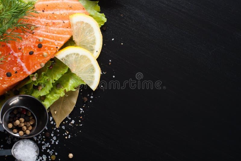 Raccordo di color salmone delizioso, ricco in olio di Omega 3 fotografia stock libera da diritti