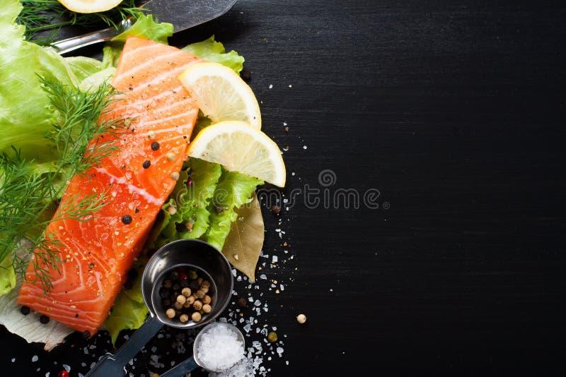 Raccordo di color salmone delizioso, ricco in olio di Omega 3 immagini stock libere da diritti