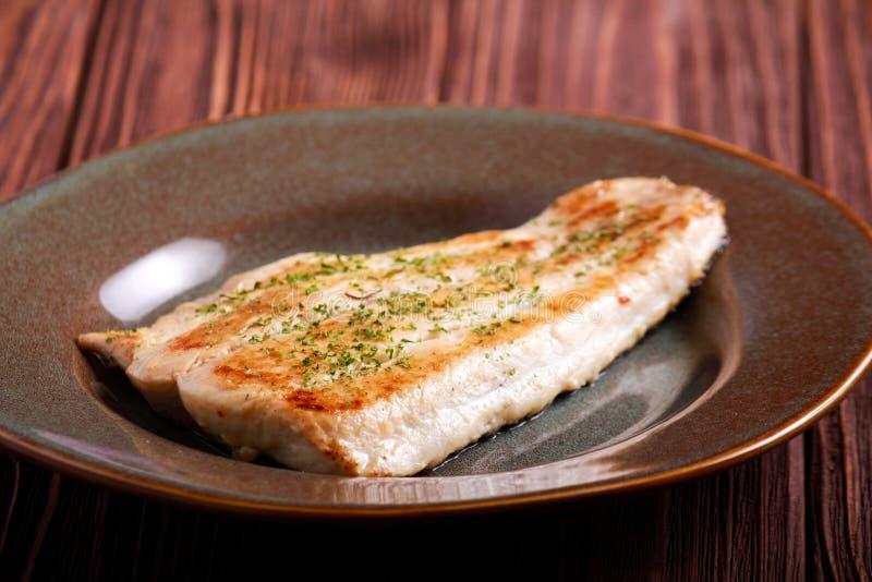 Raccordo fritto del pesce della carpa di smargiasso immagini stock