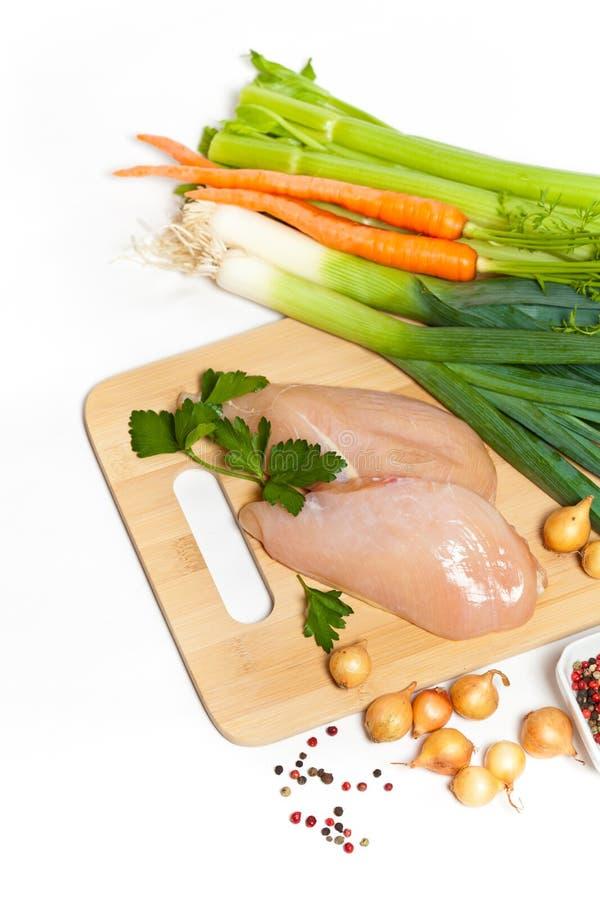 Raccordo grezzo del pollo immagini stock