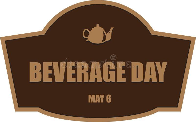 Raccourcissez le jour de boisson illustration stock