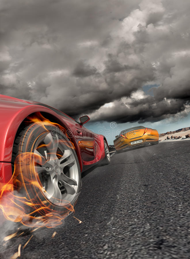 Download Race stock illustration. Image of burning, concept, drive - 18247284