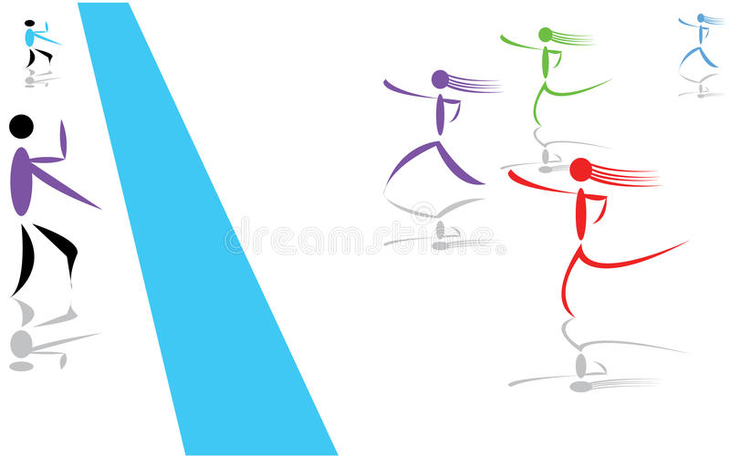 Download Race stock vector. Image of action, participation, loser - 21581673