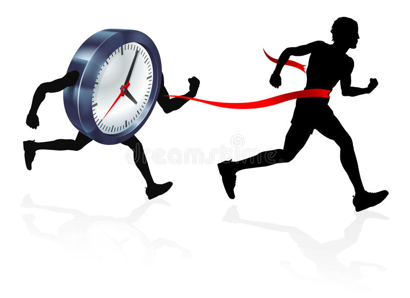 Race Against Time stock illustration