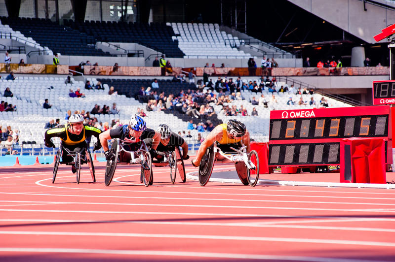 Download Race Of Athletes On Wheelchairs Editorial Stock Image - Image: 24697244