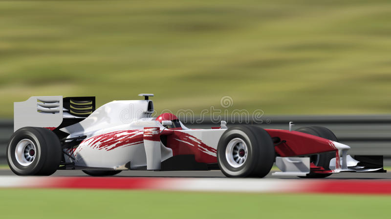 race car with blurred background royalty free stock photos