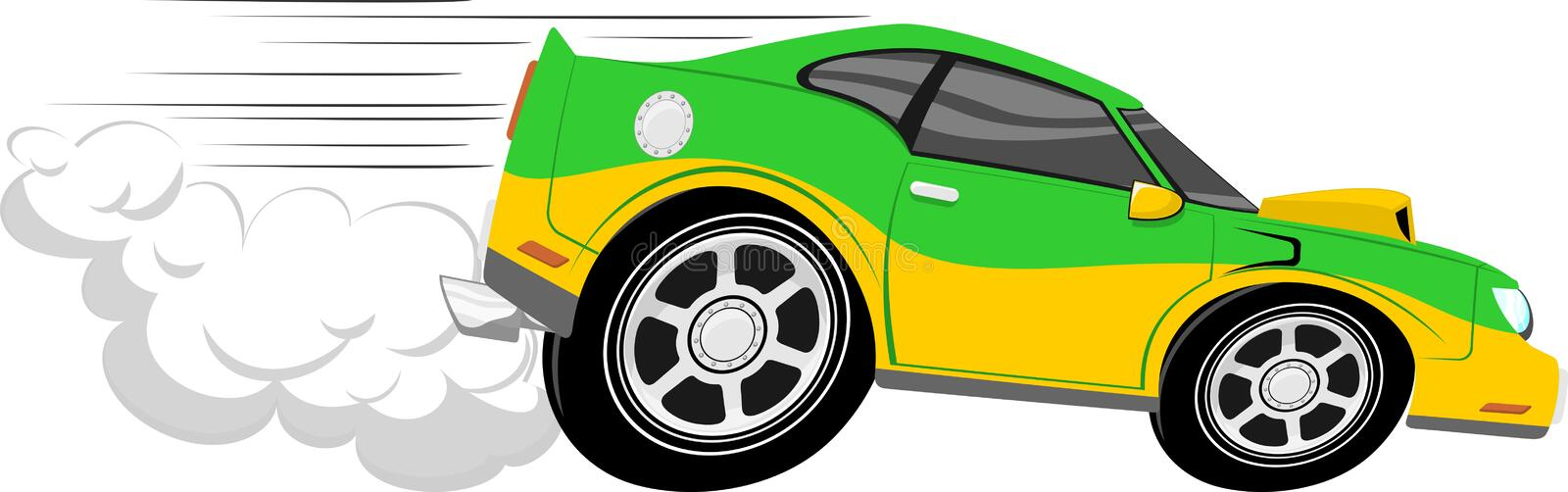 Race Car Cartoon Stock Photo