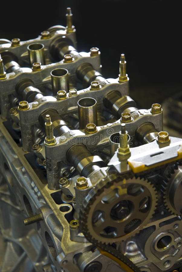 Race car engine. Internal parts of a high performance race car engine stock photography