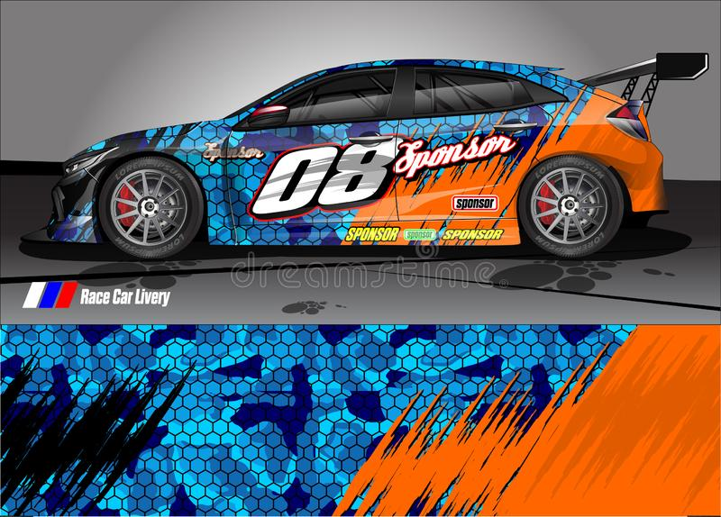 Race Car Livery Graphic Vector Abstract Grunge Background